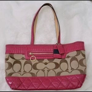 COACH Poppy Signature tote Quilted leather 18676